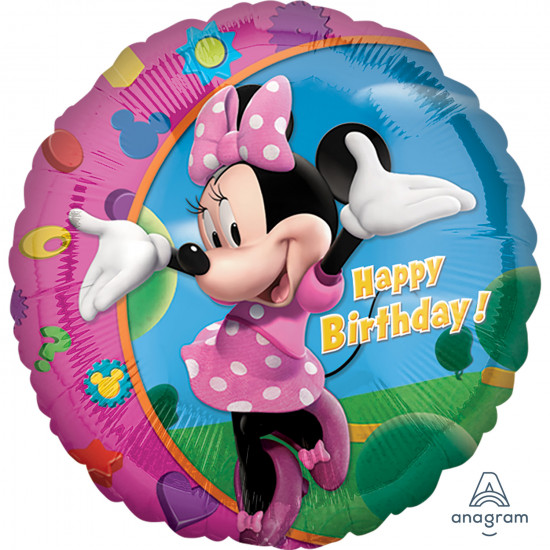 "18""43cm Standard Minnie Happy Birthday Folija balon"