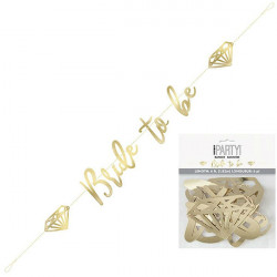 Bride To Be Gold baner