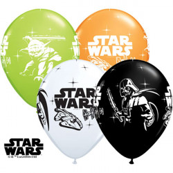 "11""28cmStar Wars Darth Vader & Yoda latex balon"