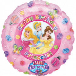 "18""43cm Princess Happy Birthday muzicki Folija balon"
