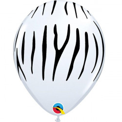 "11""28 cm Zebra Stripes latex balon"