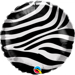 "18""46cm Zebra Stripes folija balon"