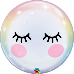 "22""56cm Eyelashes Bubble balon"