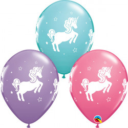"11""28cm Whimsical Unicorn mix latex balon"