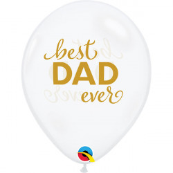 """11""""28cm Best Dad Ever Clear latex balon"""