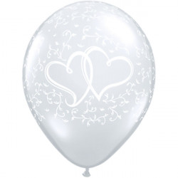 """11""""28 cm Entwined Hearts Pearl White latex balon"""