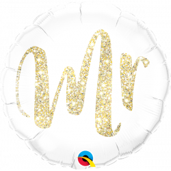 "18""43cm Mr. Glitter Gold Folija balon"