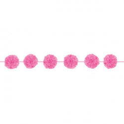 Fluffy Garlands Colourful Wedding, Bright Pink