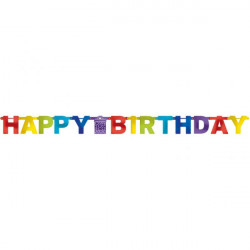 Letter Banner Bright Birthday Foil