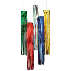 Fringed Foil Hanging Decoration