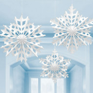 Snowflake Paper Hanging Fan Decoration