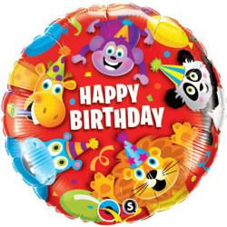 "18""46cm Birthday Party Animals folija balon"