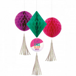 3 Honeycomb Decorations Young And Fab