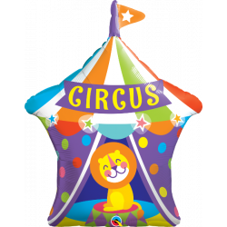 "36""92 cm Big Top Circus Lion folija balon"