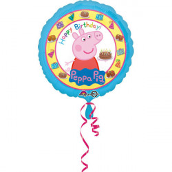 "18""43cm Standard ""Peppa Pig Happy Birthday"" folija balon"