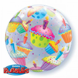 "22""56cm Cupcakes bubble balon"
