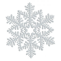 Hanging Decoration Snowflake Silver Glitter 16 cm