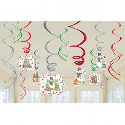 12 Swirl Decorations Winter Friends