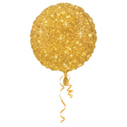 "18""43cm Standard Circle Faux Sparkle Gold folija balon"