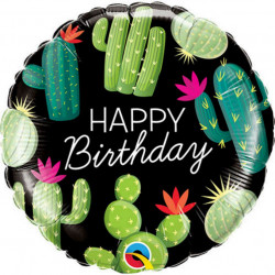 "18""43cm Birthday Cactuses folija balon"