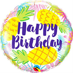 "18""43cm Birthday Pineapple folija balon"
