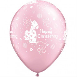 11″28cm Happy Christening Soft Pony latex balon