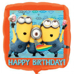 "18""46cm Dispicable me Minion Happy Birthday balon"