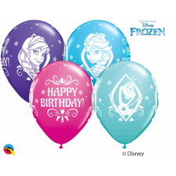 "11""28 cm Disney Frozen Happy Birthday latex baloni"